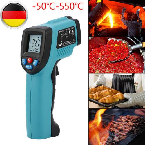 Infrarot Thermometer Pyrometer Laser IR Distanz Bis 550°C Temperaturmesser LCD