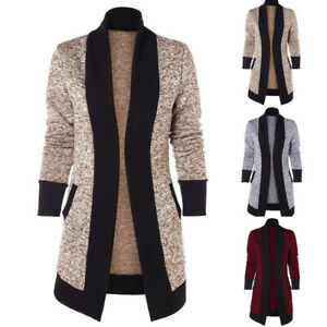 Women-Long-Sleeve-Patchwork-Knitted-Cardigan-Sweater-Casual-Outwear-Coat-Jacket