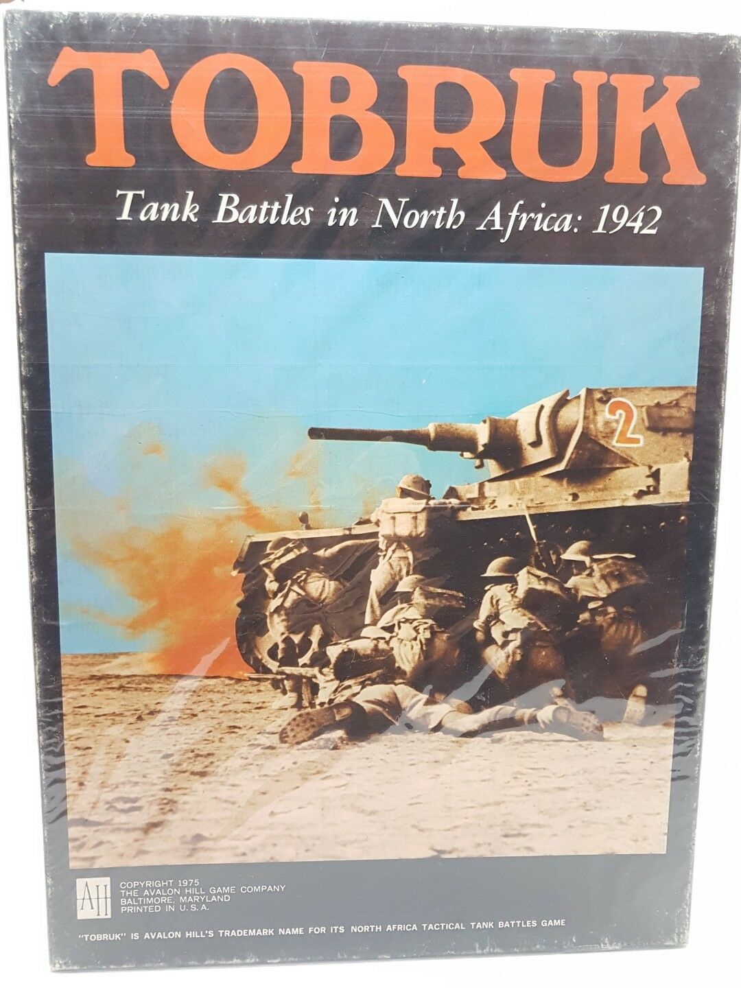 Avalon Hill Tobruk Tank battles in north Africa 1942 (1975) unpunched wargame