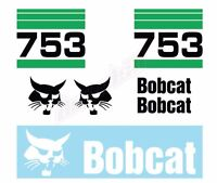 Bobcat 753 V2 Skid Steer Set Vinyl Decal Sticker Aftermarket