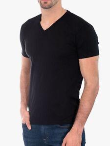 74873d84662 Men s Gem Rock Solid Black V-Neck T-Shirt Size 3X-Large Brand New ...