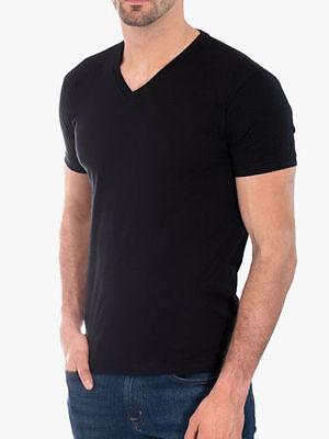 Brand New! 3 Men/'s Gem Rock Solid Black V-Neck T-Shirt Size 6X-Large Lot of