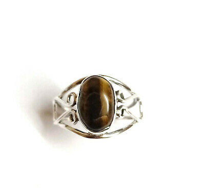 Beautiful Tiger Eye Ring-Tiger Eye Ring-Solid 925 Sterling Silver Tiger Ring-Handmade Jewelry-Natural Birthstone Ring-Women/'s Jewelry