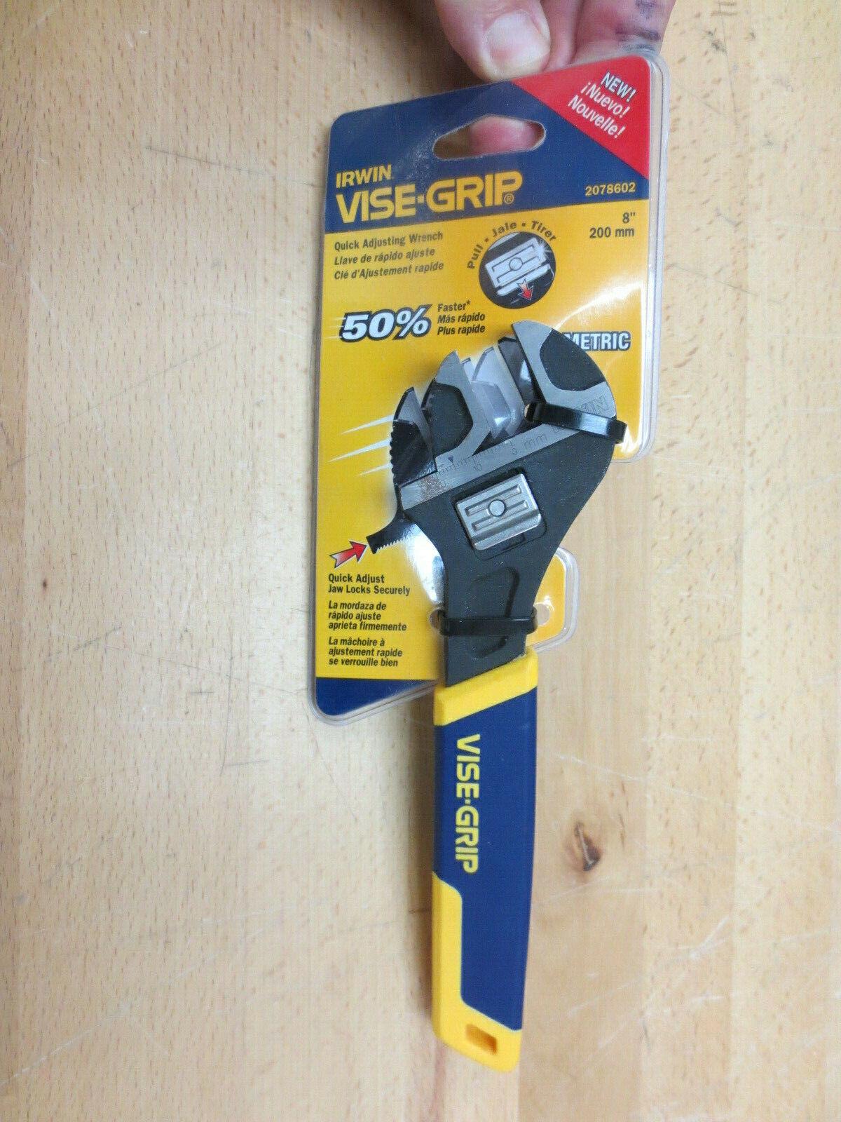 Irwin 2078602 8 Inch Metric Quick Adjusting Wrench-Taiwan!