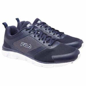 755a98820ae7 Fila Men s Navy Blue Memory Foam SteelSprint Athletic Shoes 1RM00103 ...
