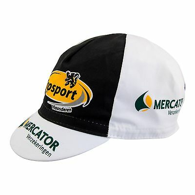 Topsport Mercator Cycling Cap Cotton Retro Classic black//white Made in Italy