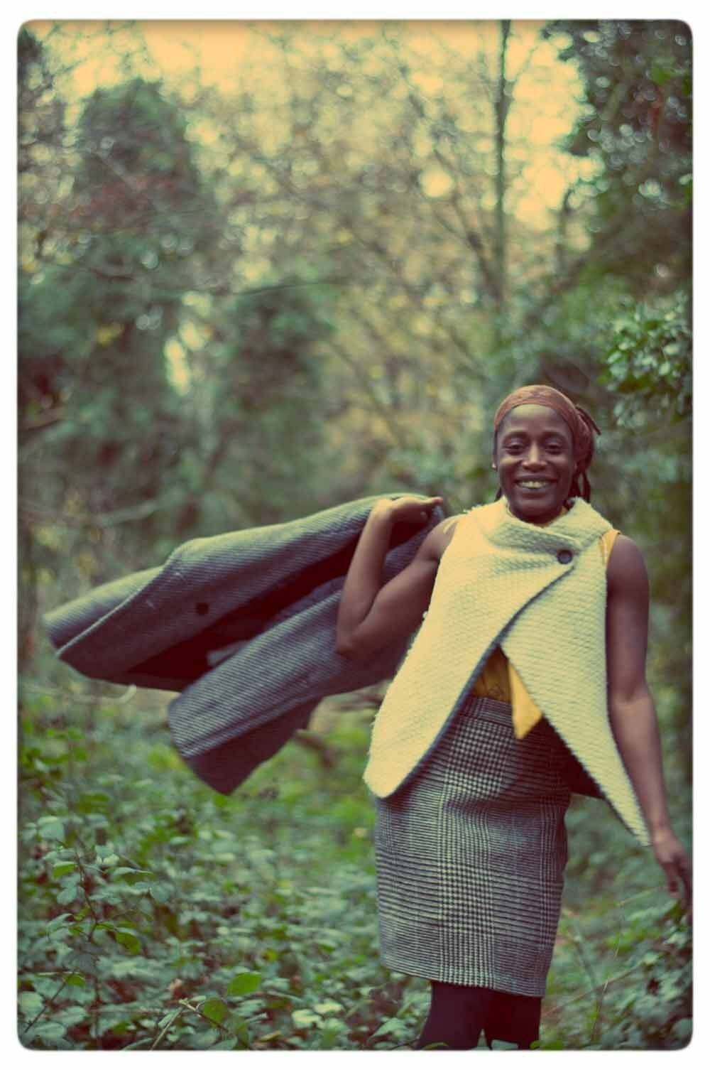 Vintage 90s Vivienne Westwood gold Label Plaid Wool Tartan Pencil Skirt