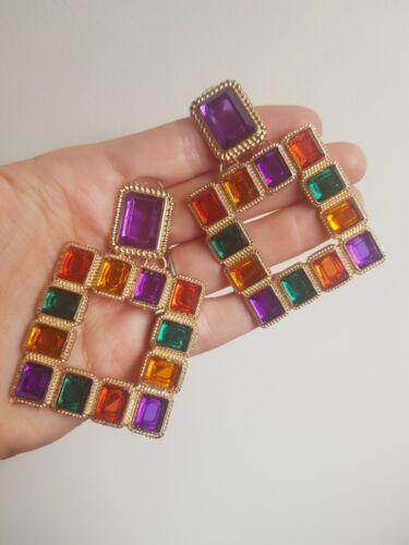 Colourful Earrings ZARA style Drop Dangle Gold Metal we❤