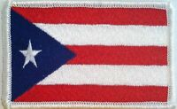 Puerto Rico Flag Patch With Velcro® Brand Fastener Military White Emblem 9