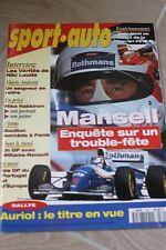 SPORT AUTO 1994 N° 394 F1 GP PORTUGAL RALLY SAN REMO FERRARI 512 M NISSAN 200 SX