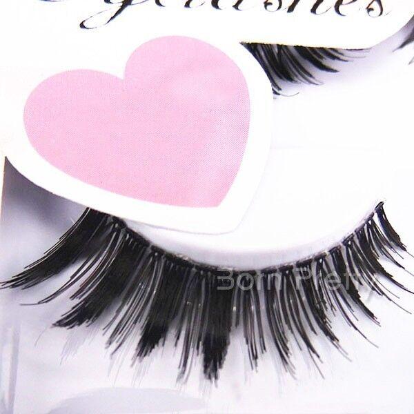 5 Pairs/Box Black Thick False Eyelash Set Handmade Natural Fake Eye Lash Makeup