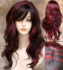 Fashion Women Long Curly Wavy Wig Blonde Copslay Party Natural Full Hair Red