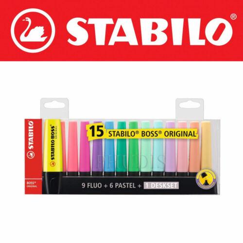 Stabilo Boss Original Art fluorescent and pastel highlighter Pen 6//8//15 Set
