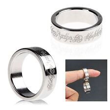 Magnetic Ring Magnet Coin Finger Pro Magic Tricks Props  Show Time Tool
