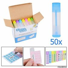 Lip Balm Container 50 Multi Color Tubes 50 Writeable 50 Printed Stickers