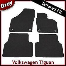 VW Volkswagen Tiguan Mk1 2007-2016 Tailored Carpet Car Floor Mats GREY