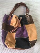 62677034791c84 item 4 Michael Kors Large Patchwork Bag Suede Leather Satchel Handbag  Vintage Purse EUC -Michael Kors Large Patchwork Bag Suede Leather Satchel  Handbag ...