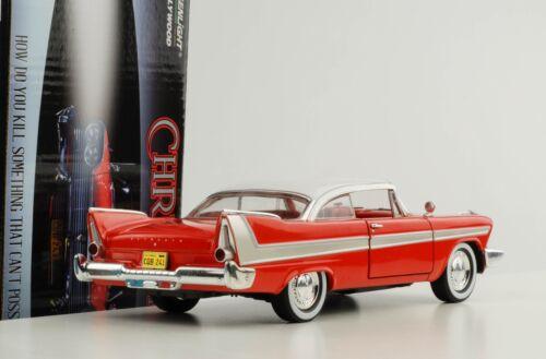 1:24 furia de Plymouth construida en 1958 película de la película Christine 1983 TV Greenlight