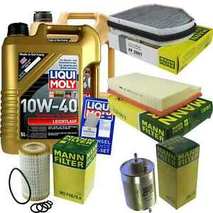 Inspection-Kit-Filter-Liqui-Moly-Oil-10L-10W-40-for-Mercedes-Benz-C-Class