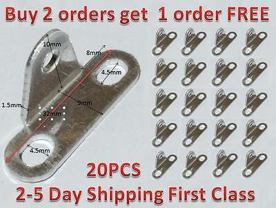 20 Pcs Aluminum Alloy Mounting Thread Dia 3 Hole Right Angle Bracket Support