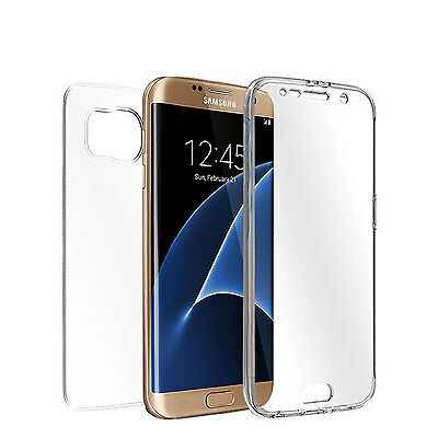 Crystal Clear Full Body Protective TPU Case Cover  For Samsung Galaxy S7 Edge