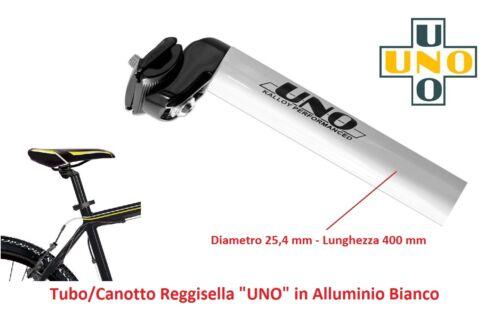 Tubo ReggiSella UNO in Alluminio Bianco 25,4 per bici 27,5-29 MTB Mountain Bike