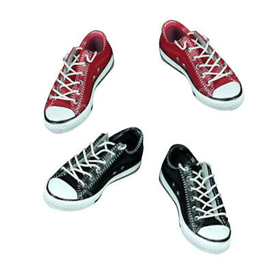 2 Pairs 1//6 Canvas Shoes Lace Up Sneakers Trainers for 12/'/' Female Figure