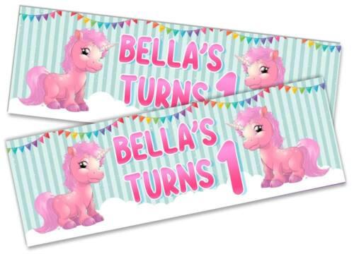 Details about  /x2 Personalised Birthday Banner Toddler Design Children Kids Decoration 25