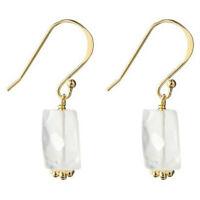 14kt Gold Over Silver Genuine Stone Earrings
