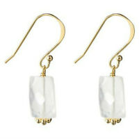 14kt Gold Over Silver Genuine Stone Earrings