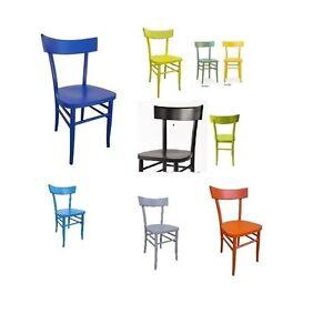 Sedie In Legno Milano.Dettagli Su Sedia In Legno Milano Laccato Vintage Vari Colori Nuova