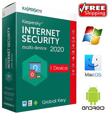 1-Year CD Kaspersky Internet Security 2019-1 PC Region Americas