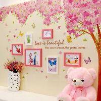 Wall Sticker Huge Pink Cherry Blossom Flower Tree Art Mural Home Decor Decal