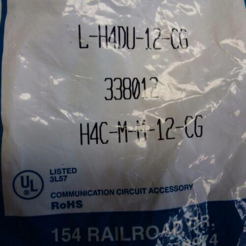 2 NEW Lynn Electronics L-H4DU-12-CG 12/' Gray Telephone Handset Coil Cord 338012
