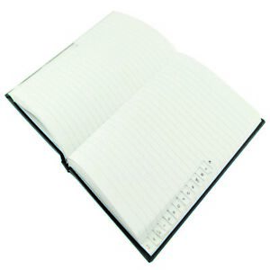 A5-Manuscript-A-Z-Indexed-Notebook-192-Pages-Case-Bound-Book-BLUE