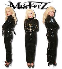 MISFITZ PVC HOBBLE STRAIT JACKET PADLOCK RESTRAINT DRESS ALL SIZES 8-32 /CUSTOM