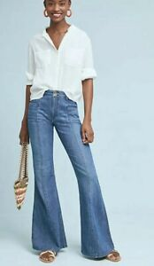 Anthropologie-Pilcro-And-The-Letterpress-Ultra-High-Rise-Flare-Jeans-Size-27