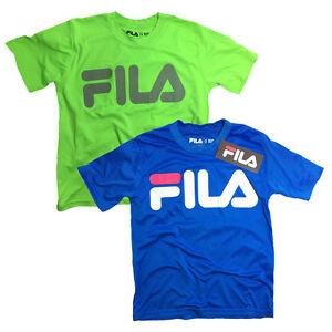 2-Boys-T-039-Shirt-FILA-SPORT-039-S-T-Shirt-PERFORMANCE-SOCCER-Basketball-CREW-NECK