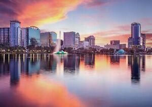 A1-Orlando-Florida-Poster-Art-Print-60-x-90cm-180gsm-America-USA-Gift-12641