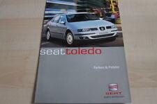 138396) Seat Toledo - Farben & Polster - Prospekt 02/2001