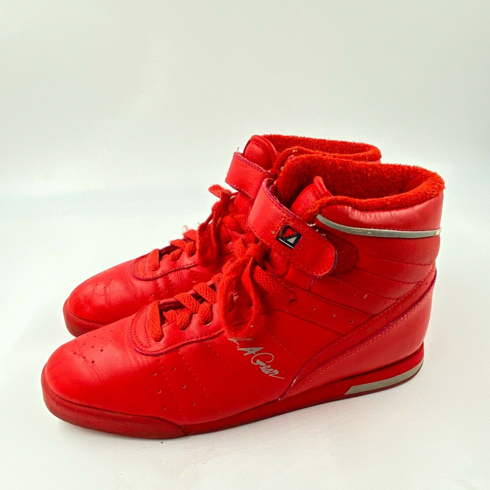 L.A. Gear 6.5 Vintage 80s Red Sneakers 90s Tennis… - image 1