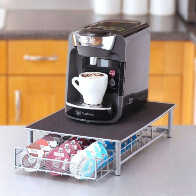 Neo 60 Pod Coffee Capsule Storage Rack Silver For Tassimo For Sale