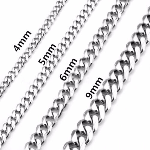 """Hip Hop Men Womens Necklace Stainless Steel Figaro Twist Curb Link Chain 18/""""-30/"""""""