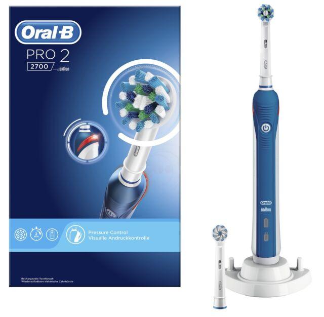 Cepillo Dientes Eléctrico Oral-B pro 2 2700 Crossaction Temporizador con  Sensor 96d799f6c5e8