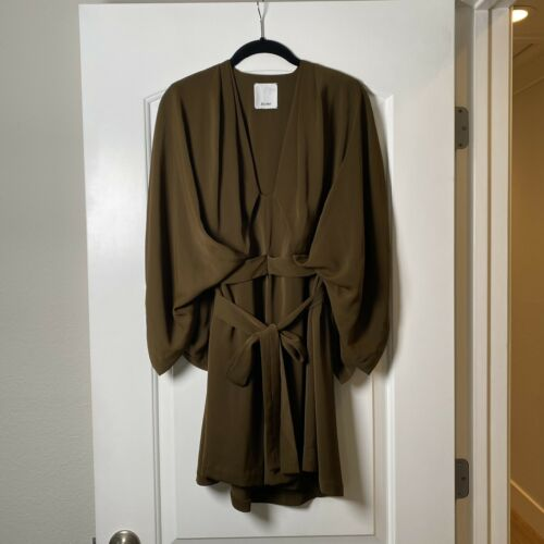 Acler Brown Kimono Sleeve Mini Dress