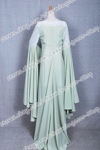 The Lord of the Rings Arwen Green Dress Cosplay Costume High Quality Elegant New