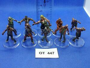 RPG-Rol-Modern-Apocalypse-Zombis-Variados-de-Zombicide-x10-Pintados-OT447