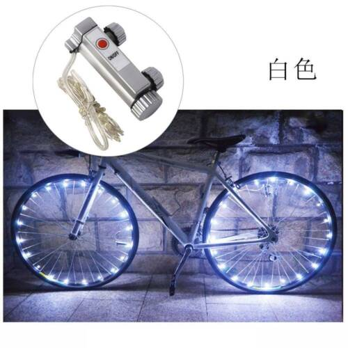 20LED Bicycle Cycling Rim Light Auto Open Close Wheel Spoke Lamp Light String US