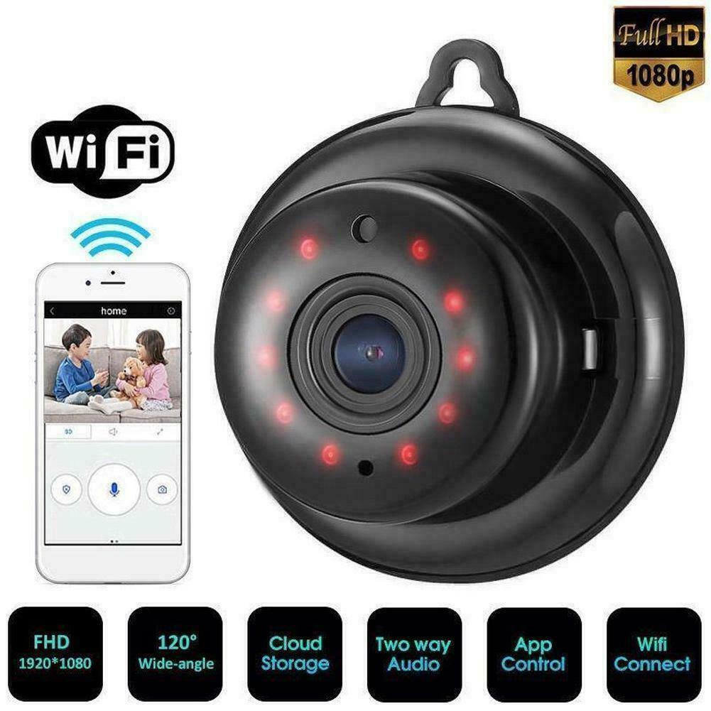 WIFI IP Pinhole Camera Wireless Mini Nanny Cam Digital Video