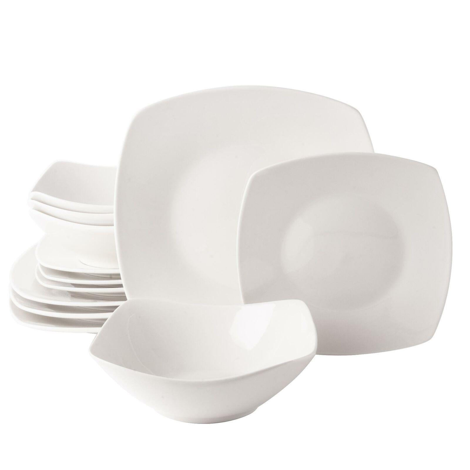 Gibson Home 118505 12r 12 Piece Square Ceramic Dinnerware Set For Sale Online Ebay
